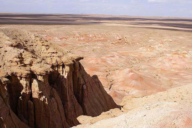 Mongolia - biała skała