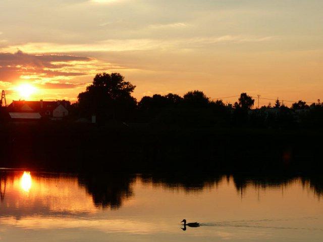 Zachód słońca nad Jeziorem Imielińskim