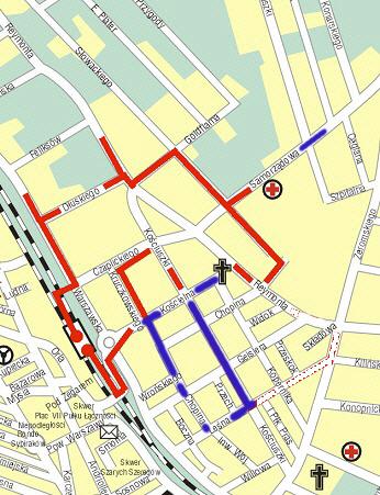 Trasa spcaeru - źródło Urząd miasta Otwocka