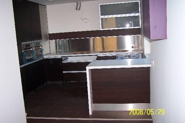 kuchnia  szafki w kolorze wenge  dobor kolorów, płytek   -> Kuchnia Wenge Wanilia Zdjecia