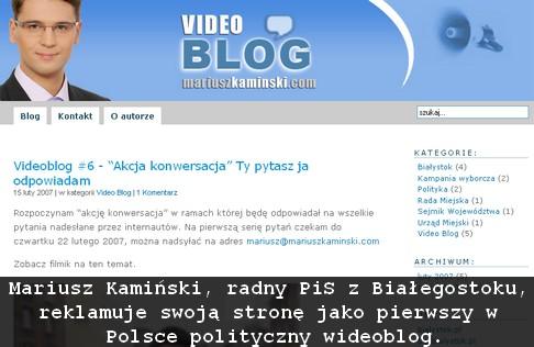 polityczny videoblog