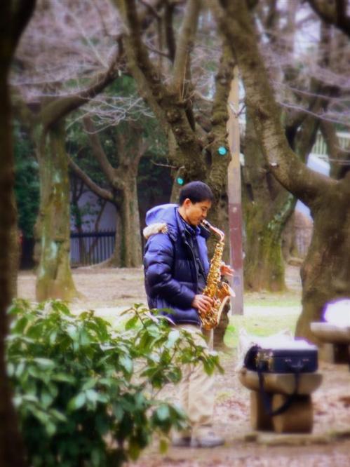 Japonczyk w parku Yoyogi