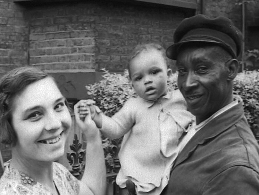 Mixed race couple, London, 1956
