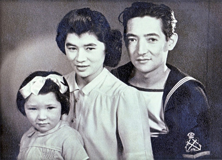 Connie and Leslie Hoe, both mixed race Chinese, with their daughter Christine, pictured in 1946