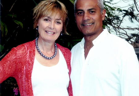 George Alagiah, presenter of the Mixed Britannia series, who is of Sri Lankan origin, pictured with his wife Frances