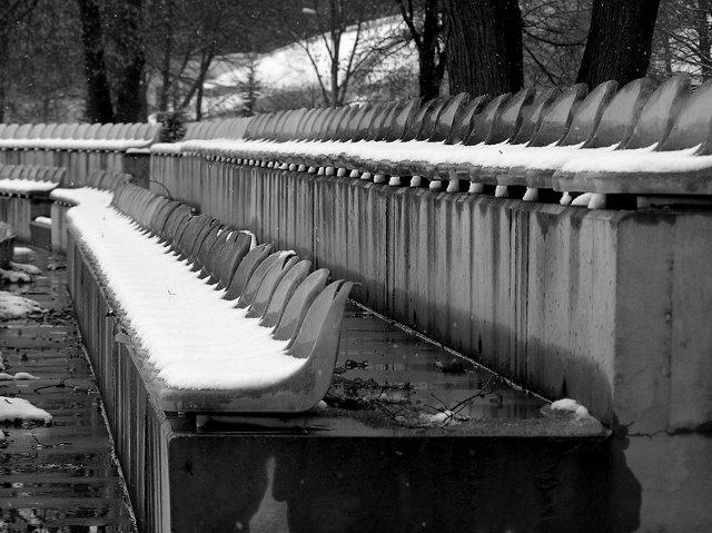 Zima na trybunach