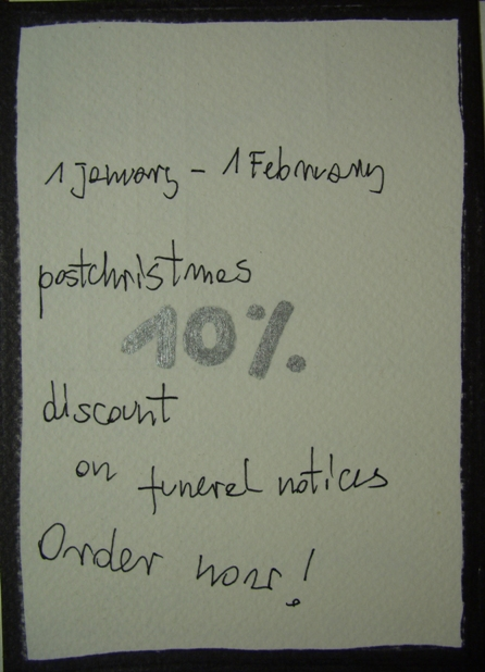 funeral notices special offer