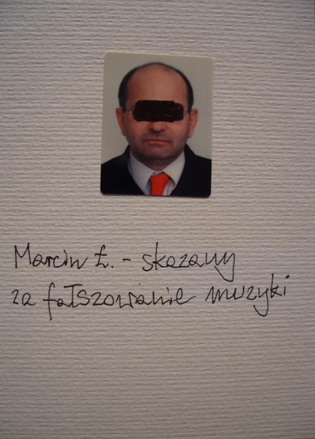 Marcin L. -skazany za falszowanie muzyki
