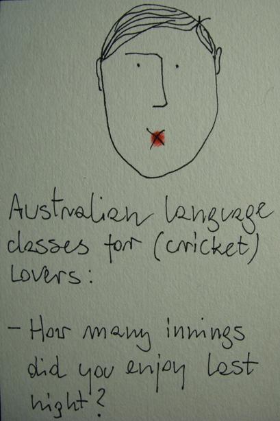 Australian language  for (cricket) lovers