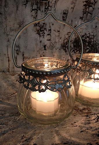 srebrne lampiony vintage