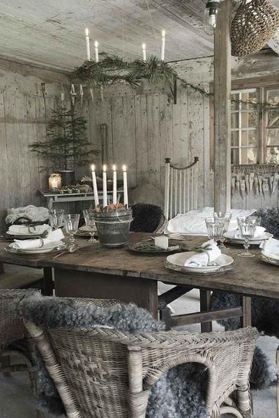 scandinavian style christmas eve