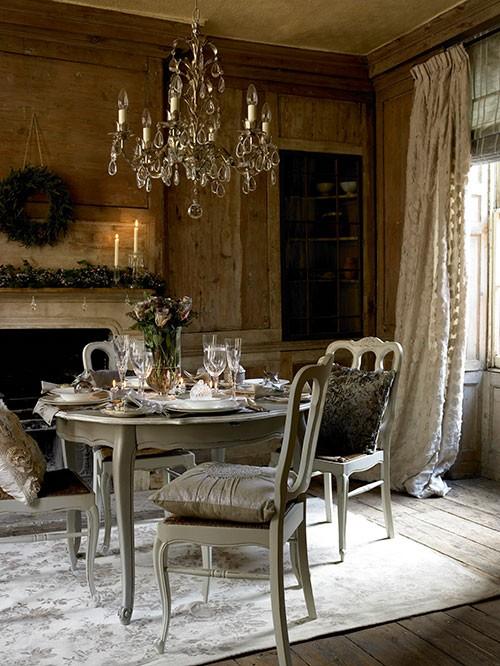 stół na święta w stylu vintage