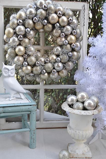 shabby chic na świąta bożego narodzenia