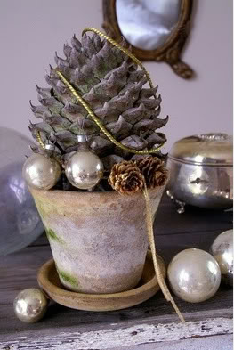 kaktus w stylu shabby na gwiazdkę