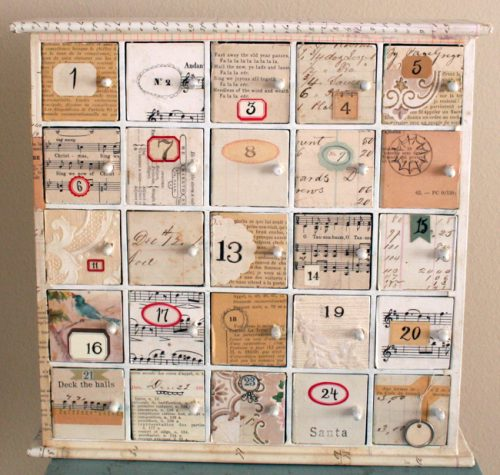 kalendarz adwentowy w stylu shabby chic