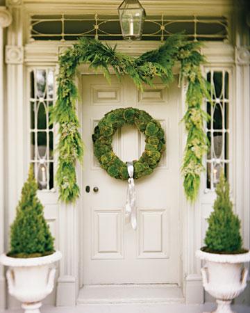 jak zrobić dekorację na świąteczne drzwi