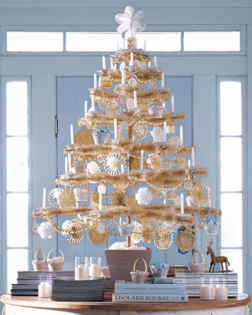 shabby chic christmas tree