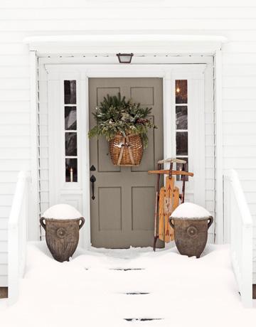 jak ubrać ciekawie drzwi na boże narodzenie