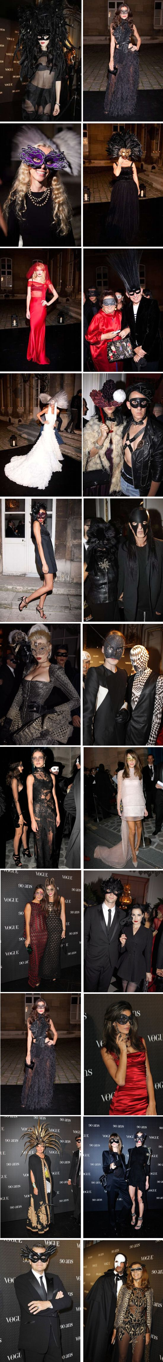 vogue party masks