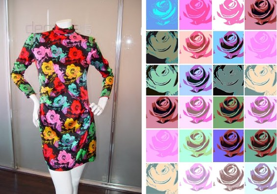 ungaro warhol roses dress