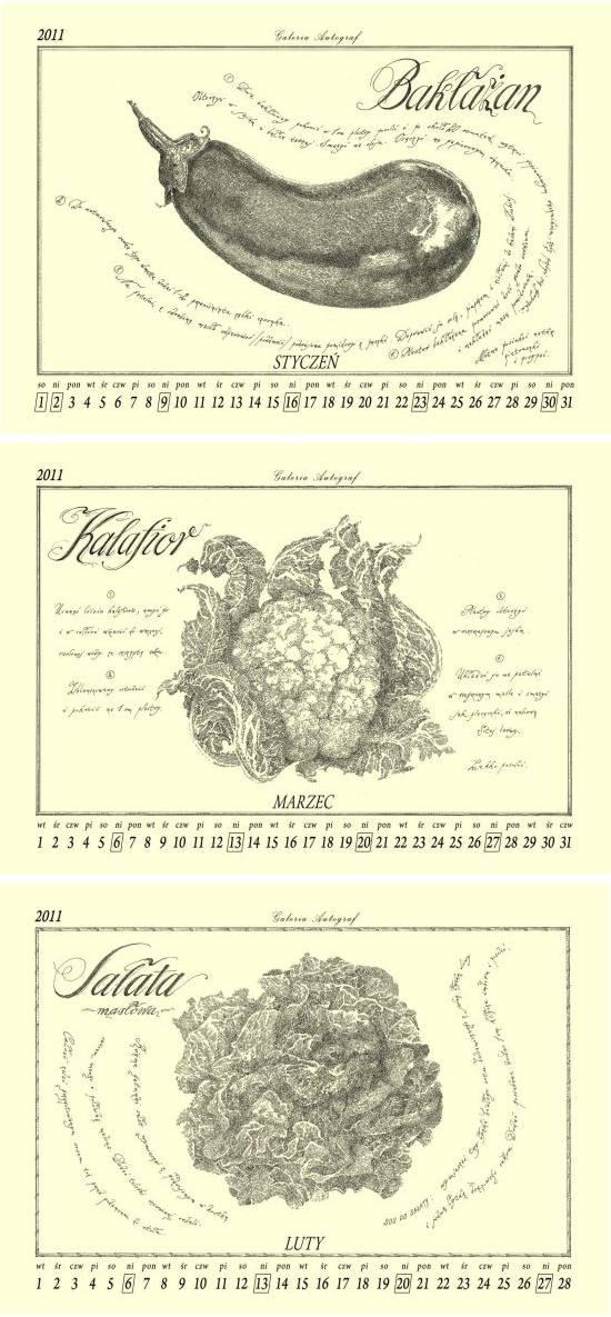 kalendarz warzywny