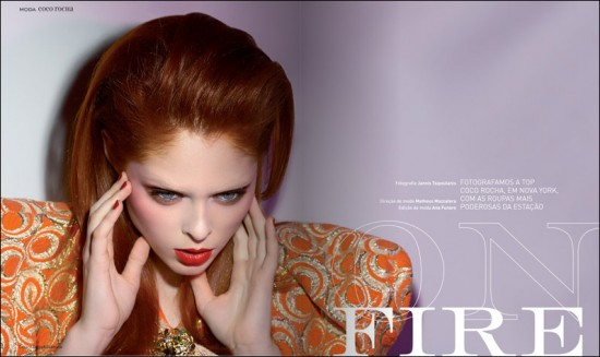 red hair coco rocha
