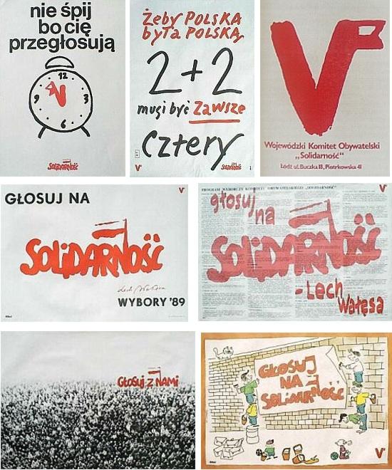 solidarnosc plakaty wyborcze