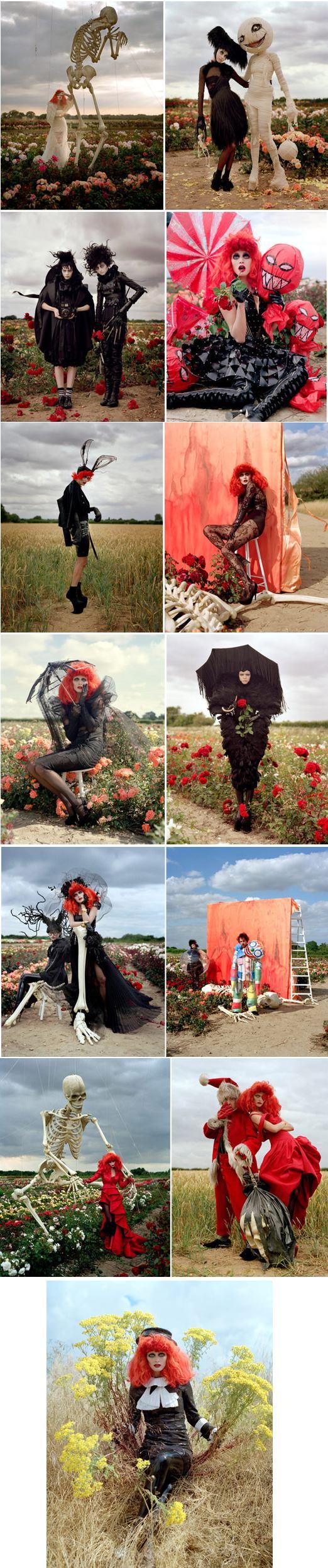 tim burton Harper's Bazaar halloween