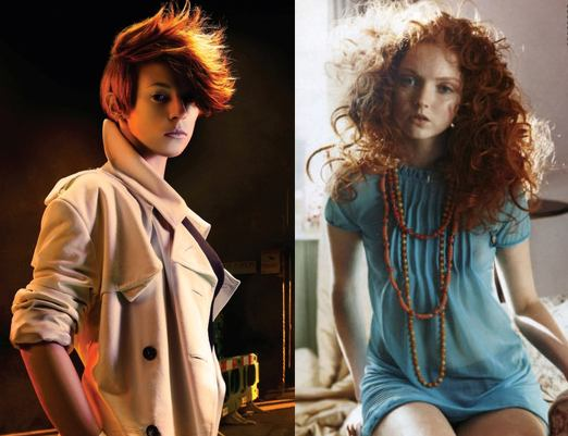 red hair stars