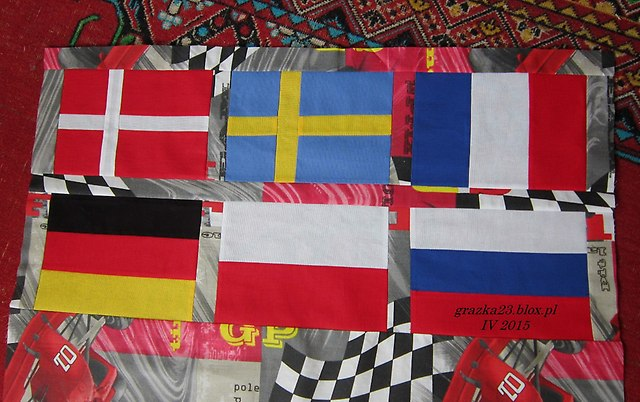flagi  - góra narzuty