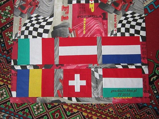 flagi - dół narzuty