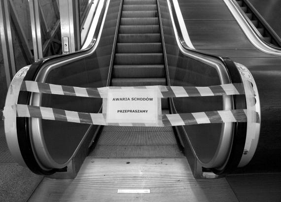 schody ruchome przy Trasie W-Z