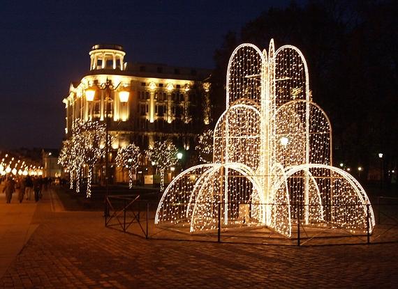 Krakowskie Przedmieście - dekoracje świąteczne