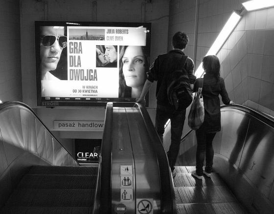 stacja metra Centrum - schody ruchome