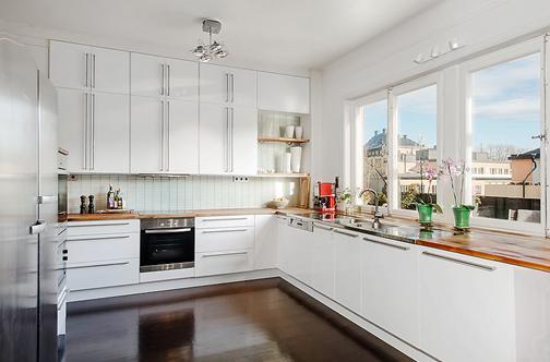 244 szwedzki apartament, szafki do sufitu  zdjcia na   -> Mala Kuchnia Szafki Do Sufitu