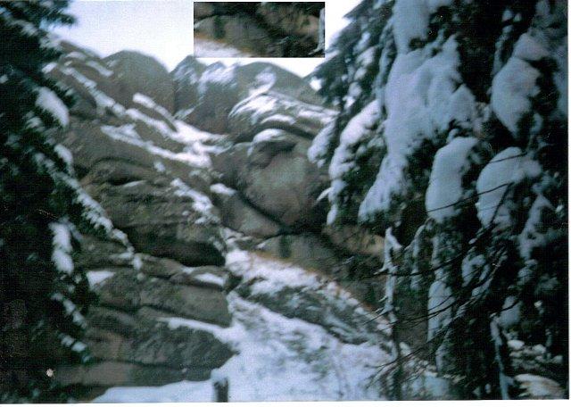 Pionowe miseczki erozyjne-Hutniczy Grzbiet Karkonosze