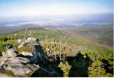 Hutniczy Grzbiet-punkt widokowy-panorama