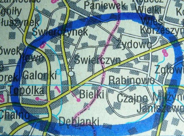 Mapa Bielek