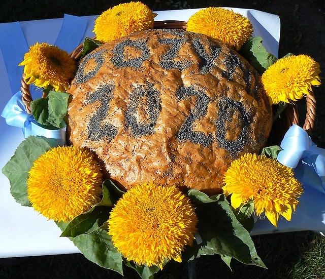 chleb dożynkowy.