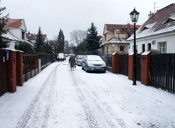 zima na warszawskich Bielanach