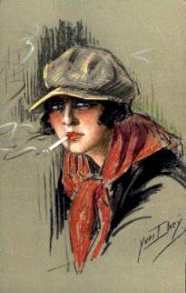 damy z papierosem