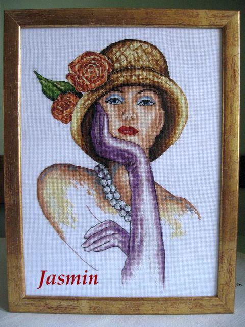 dama z fioletowymi r�kawiczkami