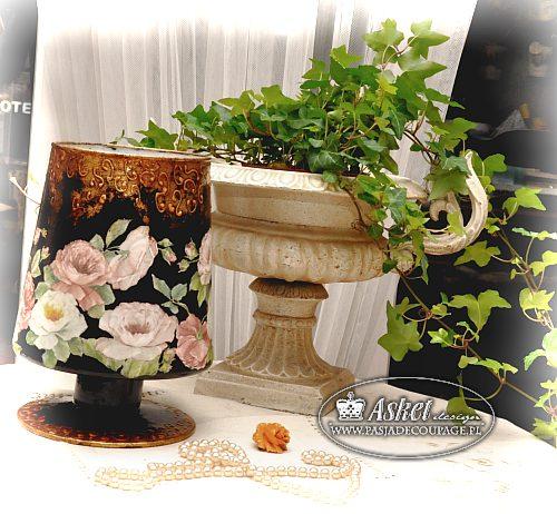 wazon złocenia w decoupage