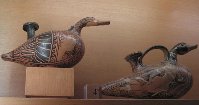 Naczynia z terakoty w kształcie kaczek, Luwr