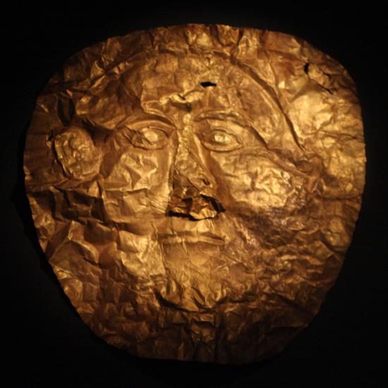Złota maska z Macedonii