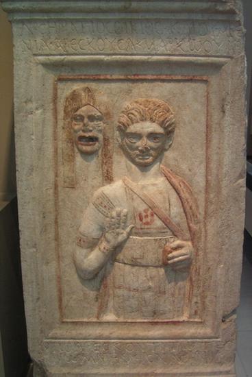 Nagrobek aktora, okres rzymski