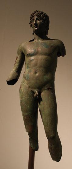 Posąg młodzieńca