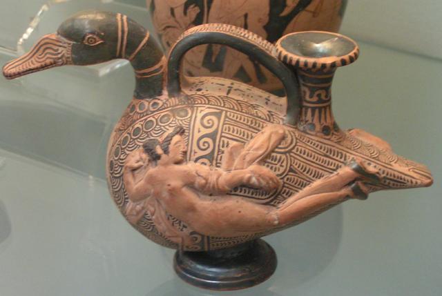 Naczynie z terakoty w kształcie kaczki, British Museum