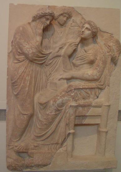 Stela nagrobna, Grecja