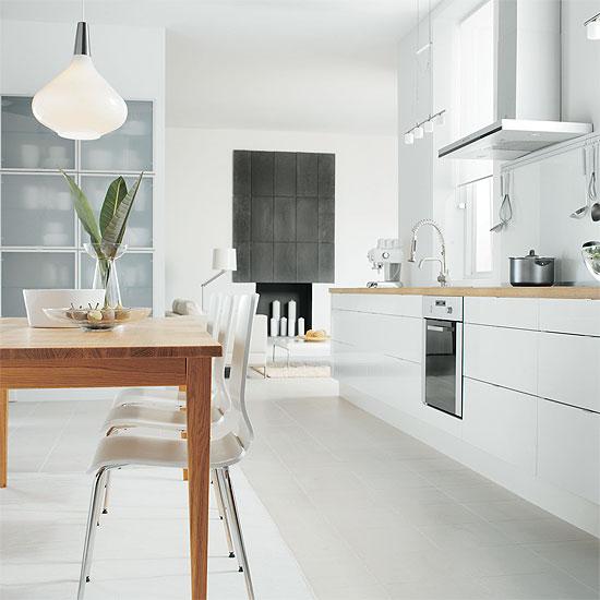 Cuisine ikea faktum abstrakt blanc avec des - Ikea cuisine faktum ...